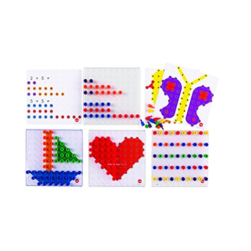 (edx education Small Pegs Activity Set - Early Math Patterning, Sequencing and Arithmetic)