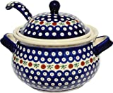 Polish Pottery Soup Tureen with Ladle 1004/1367-41