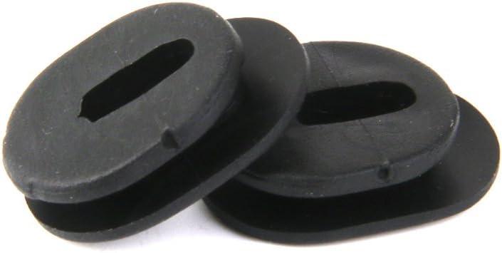 Shiwaki 48 Piezas De Repuesto De Ojales De Cubierta Lateral De Goma Para Moto 2.3 X 1.6cm