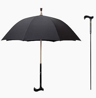 Zhen Lin Multifonctions Bâton De Marche Parapluie Extérieur Bâton Vieux Parapluie Béquille en Acier Noir Béquille