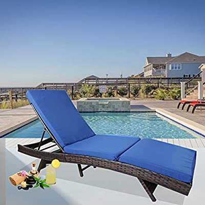 Leaptime Patio Chaise Lounge Chairs