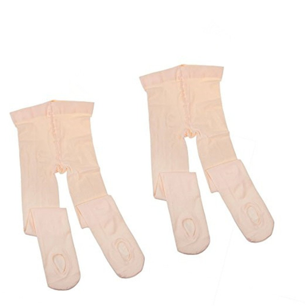 f788a2b9555b5 Amazon.com: 2 Pairs Women Girls Convertible Ballet Dance Tights Exposed  Soles Ballerina Dancing Stockings Pantyhose for Kids Adults: Clothing