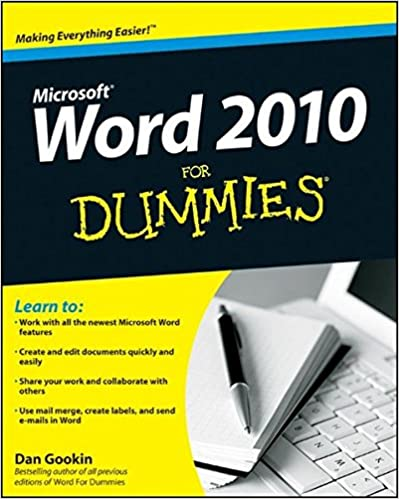 Word useful resources for For dummies template book cover
