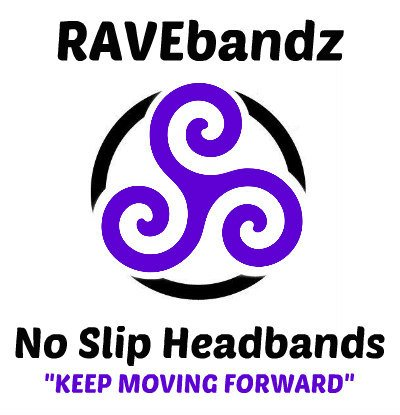 RAVEbandz Fashion Headbands – Non-Slip Silicone Lined Sports & Fitness Hair Bands for Women and Girls (Jade)