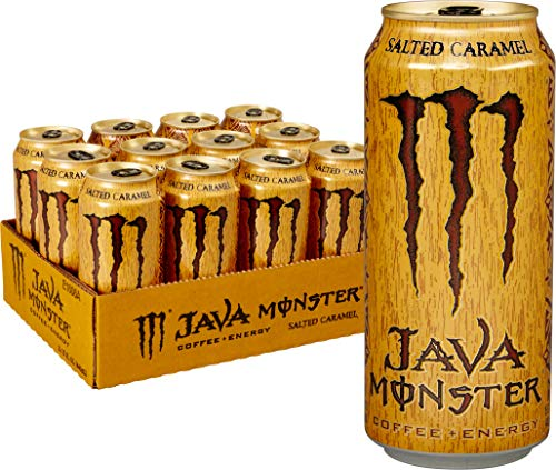 - Java Monster Salted Caramel, Coffee + Energy Drink, 15 Ounce (Pack of 12)