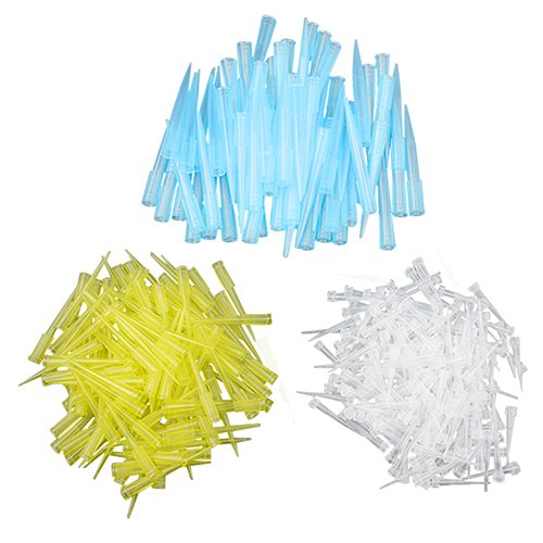 - TOVOT 1500 PCS Laboratory Universal Pipette Tips Mix Size 10ul 200ul 1000ul White Blue Yellow