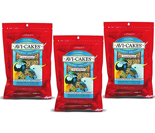 (3 Pack) Lafeber Company Avi-Cakes Macaw and Cockatoo Treat (1 Pound Per Pack)