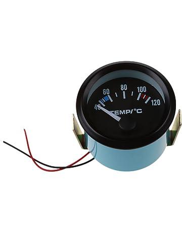 SODIAL 2 Pulgada 52 MM LED Indicador de medidor de Temperatura del Agua del Coche Puntero