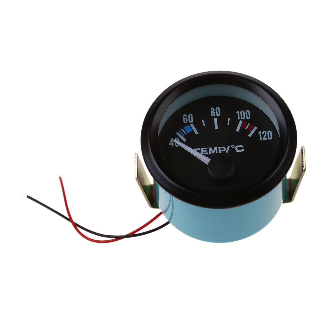 SODIAL 2 Pulgada 52 MM LED Indicador de medidor de Temperatura del Agua del Coche Puntero 060883A5