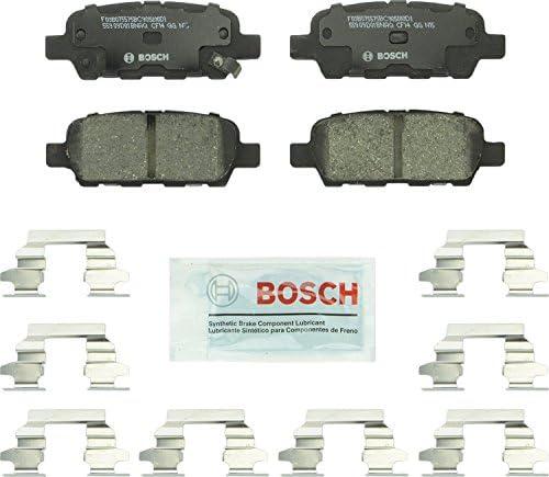 Bosch BC905 QuietCast Premium Ceramic Disc Brake Pad For: Infiniti: (EX,FX,G,JX,M,Q,QX,X); Nissan 350Z, 370Z, Altima, Juke, Leaf, Maxima, Murano, Pathfinder, Quest, Rogue, Sentra, X-Trail + More, Rear
