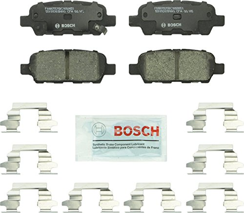 Brake Pad Shim Set - Bosch BC905 QuietCast Premium Ceramic Rear Disc Brake Pad Set