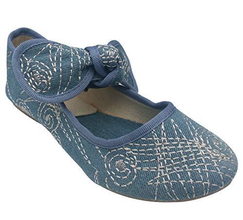 - Top Jordan Light Blue Denim American Girl Shoe Ballet Dress Up Anti Skid Sole No Lace Fun Pretty Fashion Slip On Sneaker Summer 2019 Gift Idea for Kid Children Youth (Size 13 Blue)