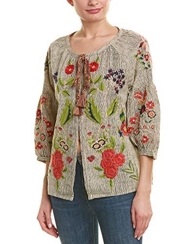 Embroidered Jacket Multi (Velvet Women's Delfina Embroidered Jacket, Multi, Small)