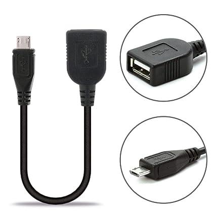 subtel Cable USB OTG para bq Edison 3/3 Mini, Aquaris M10 / E10 - Adaptador OTG