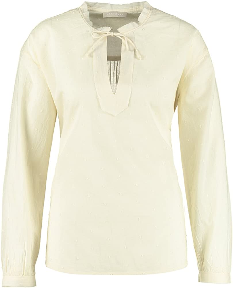 Stefanel Camicia Cotone Plumetis Camisa, Beige, XS para Mujer ...