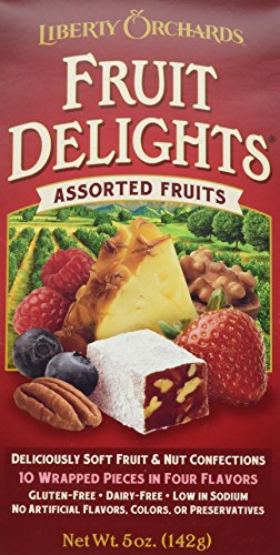 Liberty Orchards Fruit Delights Assorted, 5.0 Ounce