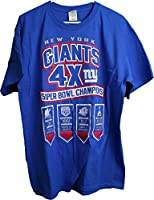 NFL New York Giants 4 Times Super Bowl Men's T-Shirt Blue