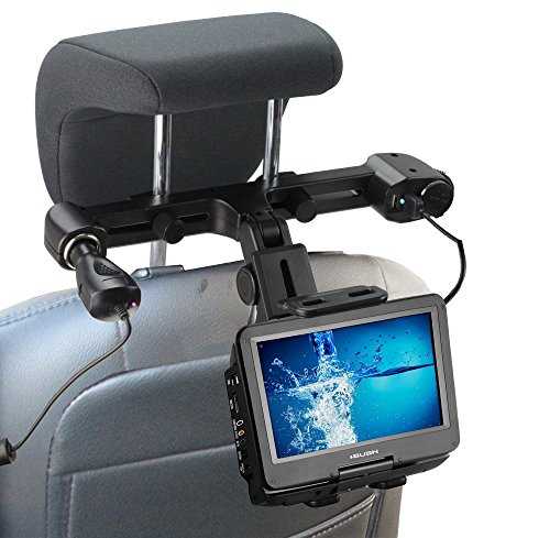 Navitech In Car Portable DVD Player Head Rest / Headrest Mount / Holder with 4.2A integrated car charger port For The Createstar 10.5 inch -  389+282gazgrhaje