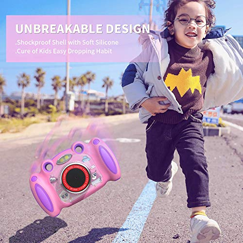 "Campark Kids Cameras for Girls Boys Birthday Gift for Age 4-8 Dual Selfie, 2"" Screen Record Video Photo Play Games, Shockproof Children Digital Camera for Toddler Elementary Students"