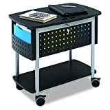 Safco Products 5370BL Scoot Mobile File with Work Surface, Letter or Legal Size, Black with Silver Accent
