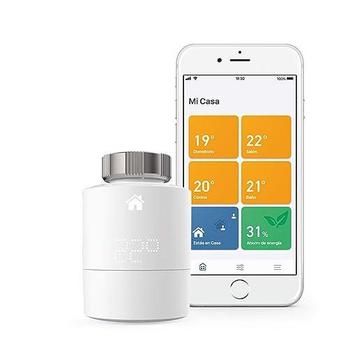 tado° Cabezales Termostáticos Inteligentes Kit de Inicio V3+ Control inteligente de calefacción, trabaja con Amazon Alexa, Apple HomeKit, Asistente de ...
