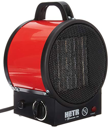 HETR 5120 BTU 110V / 1500 Watt Forced Air Ceramic Element and Overheat Protection Portable Space Heater Red