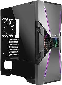 Antec Dark Avenger DA601 E-ATX Mid Tower Case/ARGB Motherboard Sync/Tempered Glass/Prizm 120 ARGB Fan Included