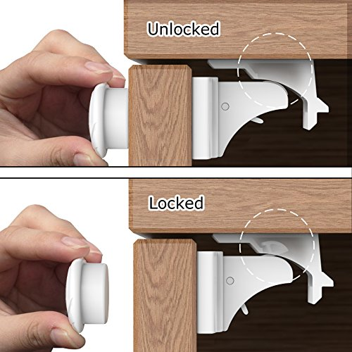 Baby Safety Cabinet Locks Magnetic, Swees 10 Locks + 3 Keys Magnetic Baby  Proof Safety
