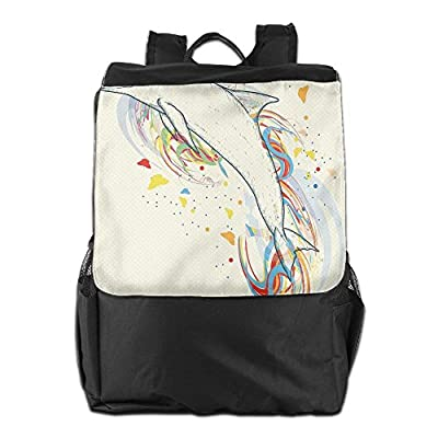 ... Bag For Men And Women. outlet Newfood Ss Cute Dolphin Fish Figure With  Rainbow Colors Adventure Ocean Animal Illustration Outdoor Travel 214f9cf1ae