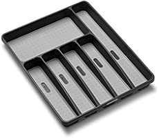 Madesmart 15.875 by 12.75 by 1.875-Inch Large Silverware Tray, granite