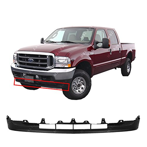 Ford Air Deflector - MBI AUTO - Textured, Black Lower Front Valance Air Deflector for 2001-2004 Ford F250 F350 Super Duty & Excursion 01-04, FO1095203