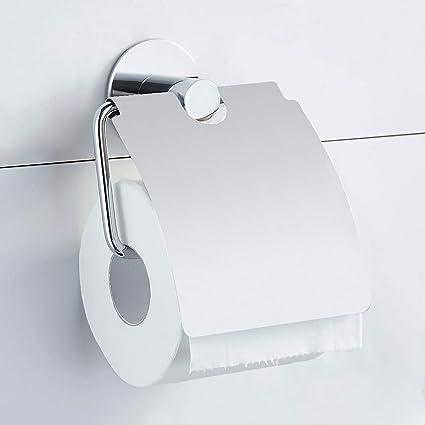 GERUIKE Portarrollo Para Papel Portarrollo Papel Higiénico Portarrollos de papel higiénico Acero inoxidable con acabado pulido Portarollos de baño ...