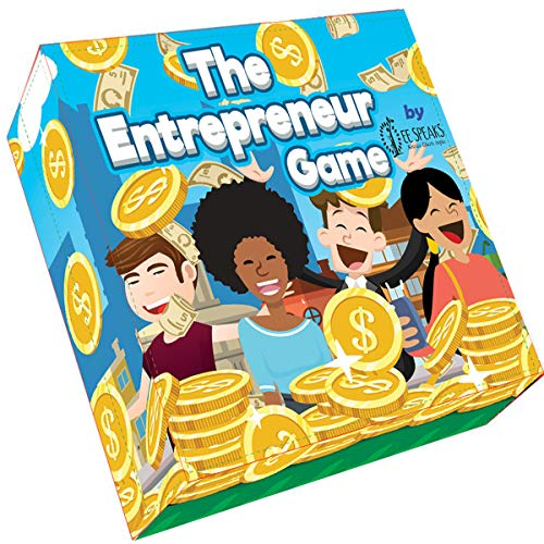 The Entrepreneur Game by EESpeaks- Hottest New STEM Educational Family Board Game Teaching Business, Finance, Negotiations, Budgeting and Investing by Toastmasters International WCPS Finalist (Business Game Board)