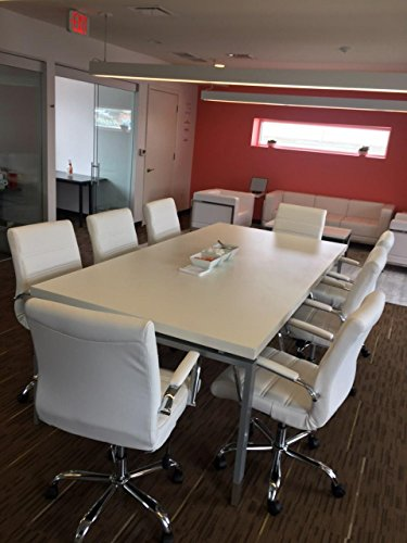 Modern Contemporary WHITEGRAY Ft By Ft Conference Table Thick - 8 ft conference table