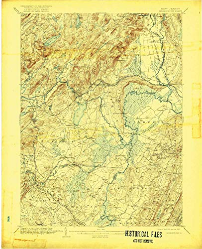 YellowMaps Morristown NJ topo map, 1:62500 Scale, 15 X 15 Minute, Historical, 1906, Updated 1918, 20.4 x 16.6 in - Paper -