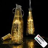 wine bottle pendant light LOGUIDE Wine Bottle Lights,Bottle Lights with Hanging Bag,20 LED Wine Bottle Lights Battery Powered with Timer & Remote Control for Wedding,Party,Outdoor,Home Decor(Set of 2)