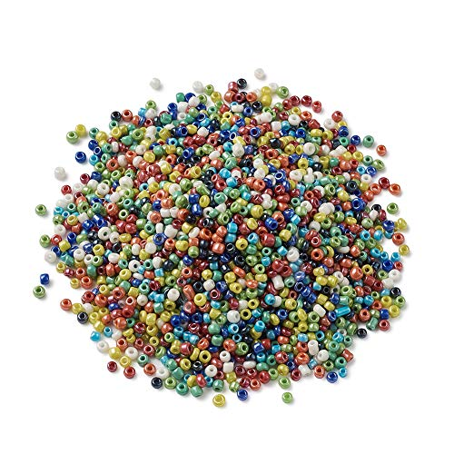 (Craftdady Rainbow Mixed Colors Round Rondelle Glass Seed Beads Pony Opaque Loose Beads for DIY Jewelry Craft Making, About 30000pcs/pound)