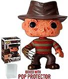 Funko Pop! Movies: A Nightmare on Elm Street – Freddy Krueger Vinyl Figure (Bundled with Pop BOX PROTECTOR CASE)