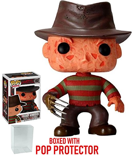 Funko Pop! Movies: A Nightmare on Elm Street - Freddy Krueger Vinyl Figure (Bundled with Pop BOX PROTECTOR (Freddy Krueger Hand)