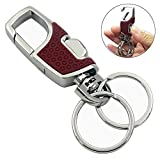 #1: Lancher Key chain with (2 Extra key rings and Gift Box) heavy duty car keychain for Man and Women