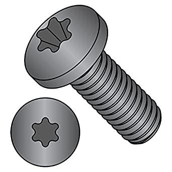 #2 Phillips Drive Pack of 100 Steel Pan Head Machine Screw #6-32 Thread Size Import Fully Threaded Meets ASME B18.6.3 5//8 Length Small Parts FSC0658PPSB Black Oxide Finish 5//8 Length