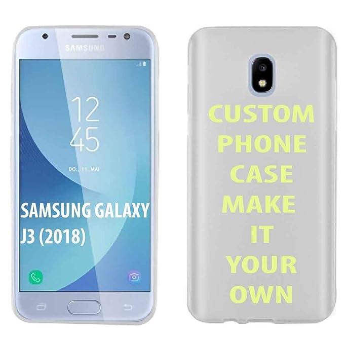 Samsung Galaxy J3 2018/Amp Prime 3/Express Prime 3/Achieve/Star/J338  [Clear] Slim Case Amazon Custom Tool YOUR MEMORY PHOTO HERE