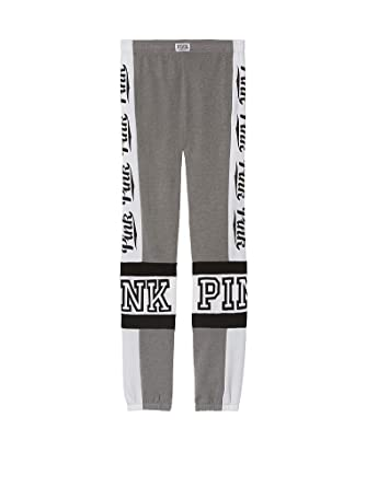 0c1d011346307 VICTORIA'S SECRET Pink Graphic Campus Pant Soft Fleece Large Gray NWT at  Amazon Women's Clothing store:
