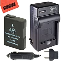 BM Premium ENEL14, EN-EL14, EN-EL14A Battery and Charger Kit for Nikon Coolpix P7000, P7100, P7700, P7800, D3100, D3200, D3300, D5100, D5200, D5300, D5500, DF Digital SLR Camera Benefits Review Image