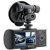 Haoponer Portable 2.7-Inch TFT Car Vehicle Safety Backup Dual Camera DVR GPS Logger G-sensor Vehicle Synchronous Recorder
