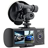 Haoponer 2.7 Inch LCD Car DVR Vehicle Safety Backup Dashboard Dual Camera Recorder Dash Cam 140 Wide Angle with GPS Logger G-sensor Loop Recording