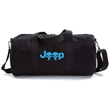 73b280a8da Amazon.com | Jeep Wrangler Punisher Skull Heavyweight Canvas Duffel ...