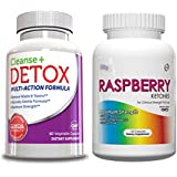 Raspberry Ketones-Weight Loss Supp-120 Cap & Cleanse & Detox-Weight Loss Supplement, 60 Capsules