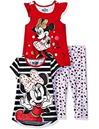 Disney Girls' 3 Piece Minnie Mouse Printed Legging Set