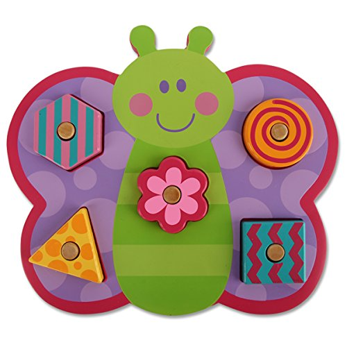 (Stephen Joseph Shaped Wooden Peg Puzzle, Butterfly)